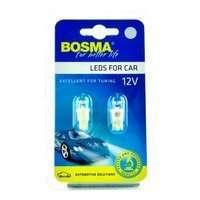 Żarówka samochodowa Bosma zamiennik W5W/T10 LED diodowa biała - 2szt