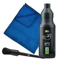 Zestaw: APC ADBL uniwersalny środek czyszczący 1L + pędzelek, mikrofibra