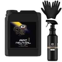 Zestaw: APC K2 PRO NEUTRAL środek czyszczący 5L + butelka i rękawiczki