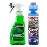 Zestaw: Sonax płyn do mycia szyb 500ml + koncentrat do spryskiwaczy 250ml