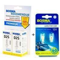 Zestaw: xenon D2S 4300K Bosma 2szt + 2xW5W