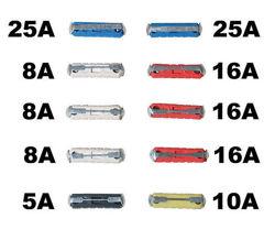 Bezpieczniki cylindryczne - komplet 10szt