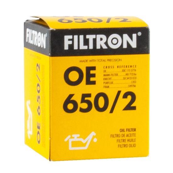 FILTRON filtr oleju OE650/2 - Skoda Octavia II, VW Bora II Golf V Jetta II, Audi A3 II 1.4/1.6FSI