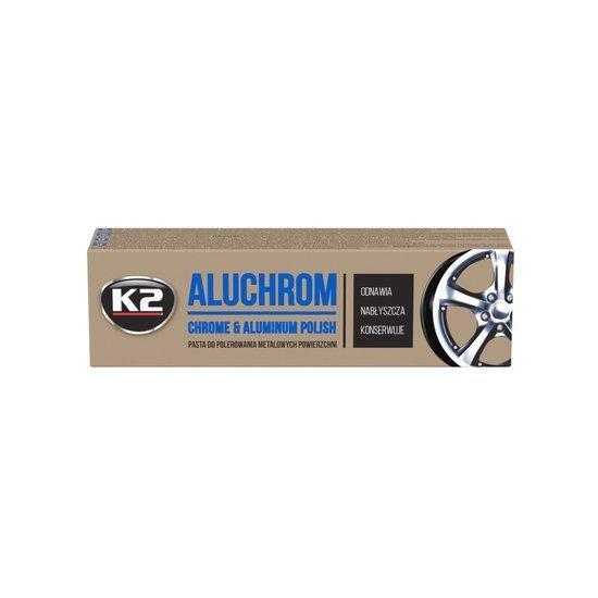 K2 Aluchrom pasta do czyszczenia chromu i aluminium - nabłyszcza 120g