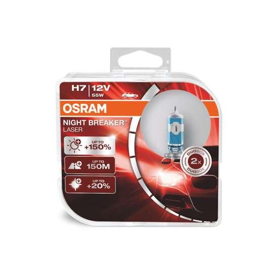 OSRAM Żarówki H7 Night Breaker Laser +150%