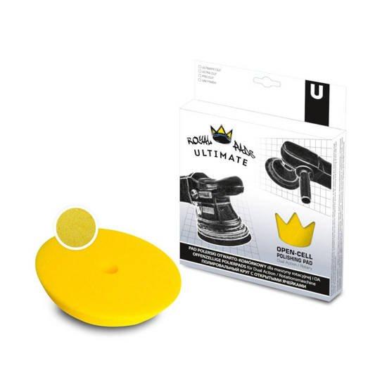 Royal Pads U-Thin Ultra Cut średnio twardy pad polerski - żółty 80mm